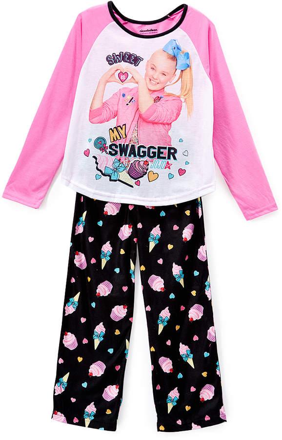 Pink & Black JoJo Siwa 'Swagger' Pajama Set - Girls