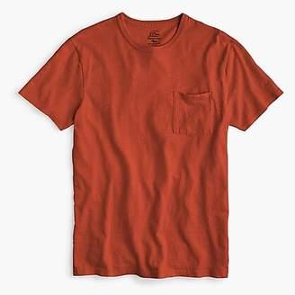 J.Crew Slim garment-dyed slub cotton crewneck T-shirt