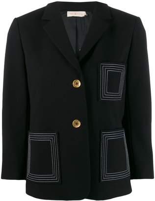 Tory Burch contrast stitch blazer