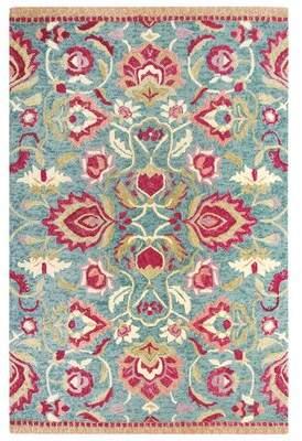 Company C CompanyC Savannah Hand-Tufted Wool Jade/Pink Area Rug CompanyC