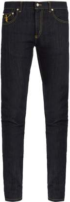 Alexander McQueen Dancing skeleton-embroidered skinny jeans