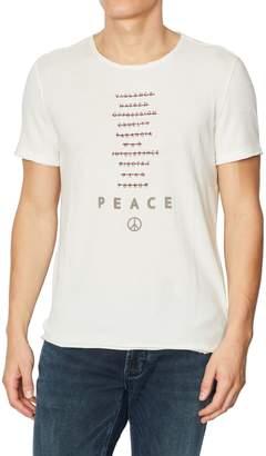 John Varvatos Peace Words Cotton Graphic Tee