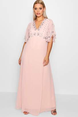 boohoo Plus Boutique Embellished Sequin Maxi Dress