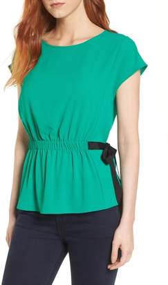 Pleione Gathered Waist Side Tie Top