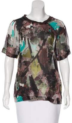 BLK DNM Silk Printed Top