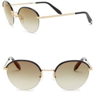 Victoria Beckham 52mm Metal Round Sunglasses