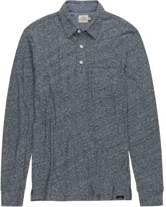 Faherty Heather Long-Sleeve Polo - Men's