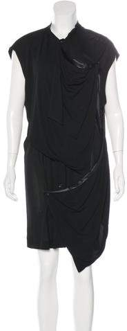 Balenciaga  Balenciaga Draped Button-Up Dress