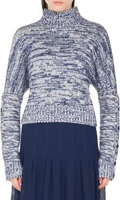 Akris Punto Melange Knit Turtleneck Sweater