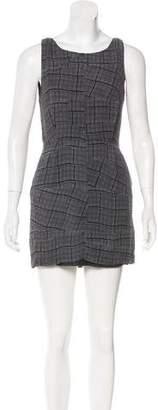 Rag & Bone Silk Plaid Print Dress