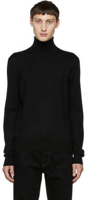 Dolce & Gabbana Black Crown Turtleneck