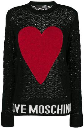 Love Moschino contrast heart jumper