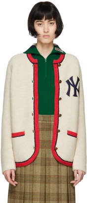 Gucci Beige NY Yankees Edition Cardigan