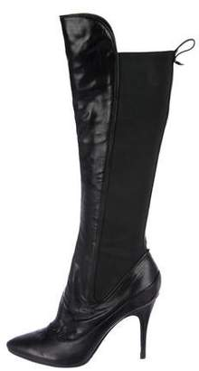 Jerome C. Rousseau Leather High Heel Boots