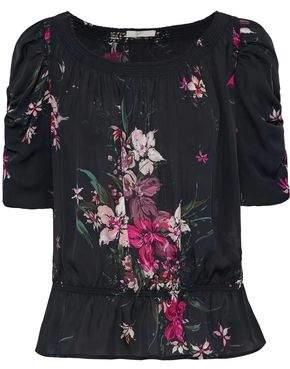 Joie Kennon Floral-Print Silk Crepe De Chine Blouse