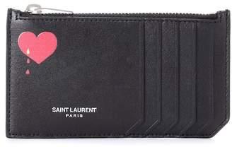 Saint Laurent Paris leather card holder