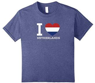 I Love NETHERLANDS Flag Heart T Shirt for Netherlands Lovers