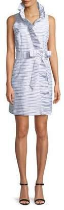 Milly Sleeveless Ruffled Wrap Dress