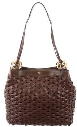 Tory Burch Woven Leather Shoulder Bag