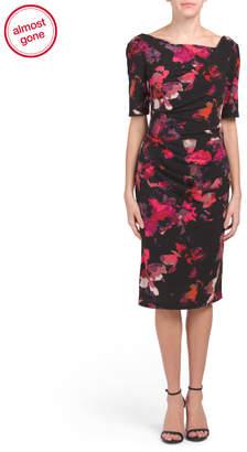Printed Elbow Sleeve Dress