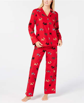 Charter Club Petite Cotton Flannel Pajama Set, Created for Macy's