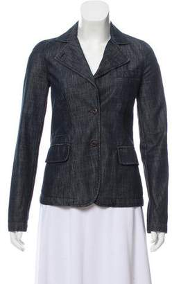 Miu Miu Dark Wash Denim Blazer