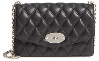 Mulberry Small Darley Lock Quilted Calfskin Leather Clutch