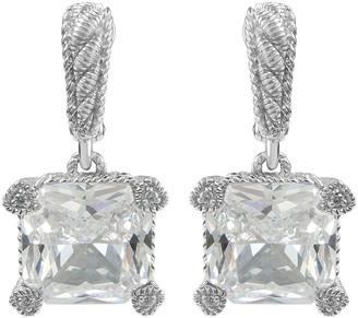 Judith Ripka Sterling Diamonique Montana Earrings