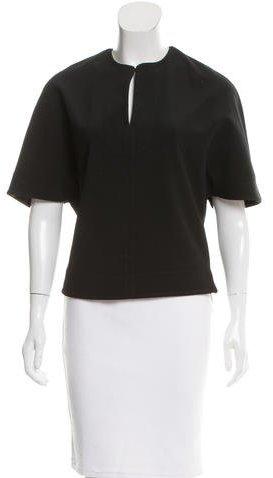 Balenciaga Balenciaga Cape-Style Fitted Top