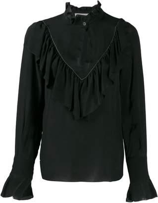See by Chloe ruffled keyhole shirt