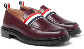 Thom Browne Grosgrain-Trimmed Leather Penny Loafers