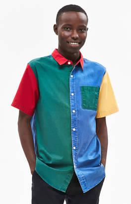 Pacsun 1994 Classic Colorblock Short Sleeve Button Up Shirt
