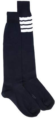 Thom Browne striped patch socks
