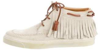 Gucci Suede High-Top Sneakers w/ Tags