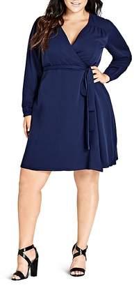 City Chic Mia Wrap Dress