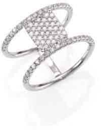Meira T Diamond& 14K White Gold Double-Band Ring