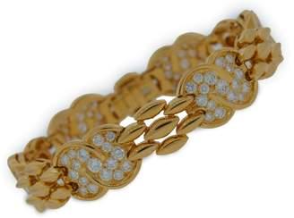 Van Cleef & Arpels Van Cleef Arpels 18k Yellow Gold Elegant Chic Diamond Bracelet