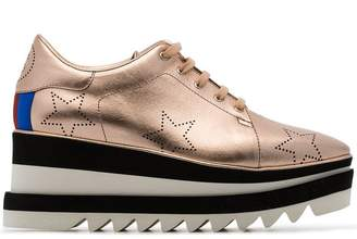 Stella McCartney Rose Gold Selyse 75 platform sneakers