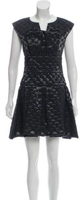 Chanel Pleated Jacquard Dress