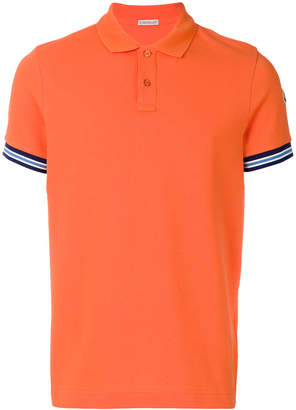 Moncler contrast cuff polo shirt