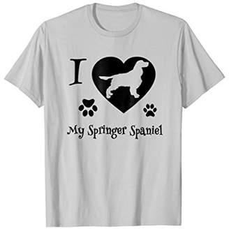 Springer Spaniel Tshirt I Love My Springer Spaniel Dog