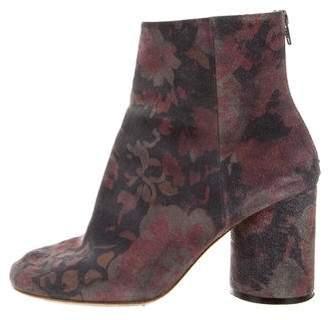 Maison Margiela Floral Nubuck Ankle Boots
