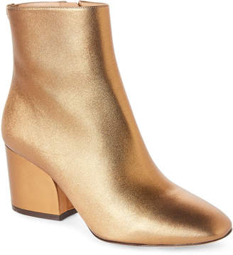 Salvatore Ferragamo Gold Leather Ankle Booties