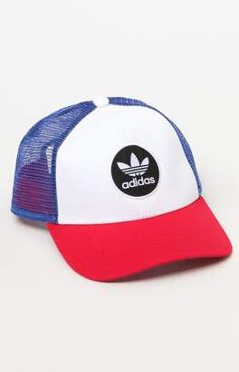 adidas Circle Mesh Red White & Blue Snapback Trucker Hat