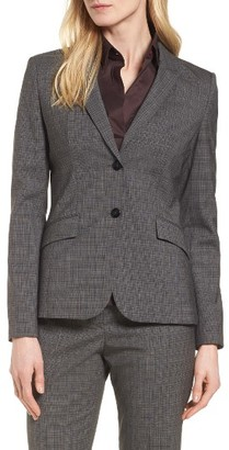 Women's Boss Julea Plaid Stretch Wool Blazer $595 thestylecure.com
