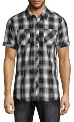 Buffalo David Bitton Plaid Short-Sleeve Shirt
