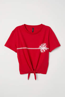 H&M T-shirt with Tie - Red