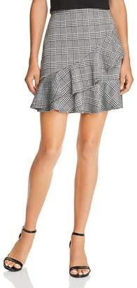 Aqua Ruffled Glen Plaid Skirt - 100% Exclusive