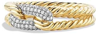 David Yurman Petite Pavé Loop Ring with Diamonds in 18K Gold