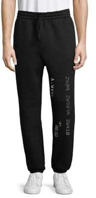 Alexander Wang Metallic-Trimmed Sweatpants